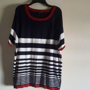 The Limited Red White & Blue Sweater Size XXL NWT